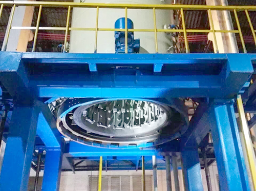 Vertical vacuum high pressure gas quenching furnace